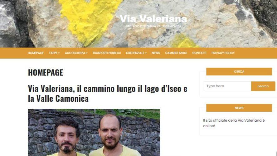 Il sito ufficiale della Via Valeriana è online!